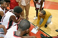 Edison High School vs. Miami High School basketball game. Little Haiti. Miami. Florida. USA