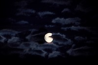 at night, clouds, full moon, moon, nature, night, sky