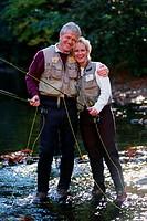 Portrait of couple fishing