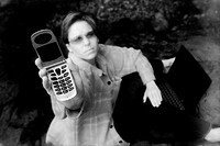 Female holding a cell phone