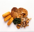 Escalope with Chanterelles & Croquettes
