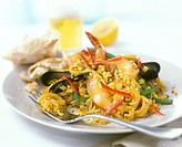 Paella with strips of pepper (1)