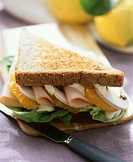 California sandwich with smoked turkey breast & oranges