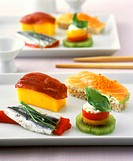 International dish: Western style sushi snacks
