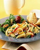 Pasta Salad with Vegetables and Bacon