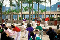 Doing  exercise, Hong Kong
