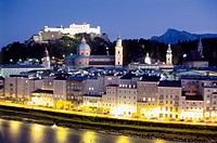 Castle and skyline. Salzburg. Austria
