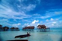 Bajau village, Pulau Omadal, Sabah, Malaysia
