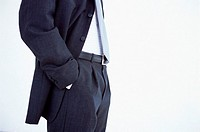 Torso of businessman in suit