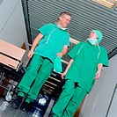 Surgical staff leave theatre