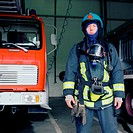 Fireman fully kitted out