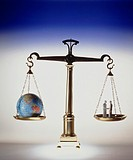 Business & Profession, Object, Balance scales, Figures model