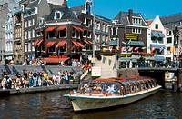 Amstel canal. Amsterdam. Holland
