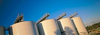 Stainlees steel wine storage tanks in Barossa Valley. South Australia