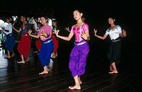 Apsara dance. Khmer Dance school. Phnom Penh. Cambodia