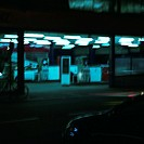 Service station at night, long exposure