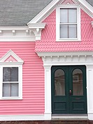 19th century house with what is sometimes called gingerbread style trim. Greenwich, Rhode Island. USA