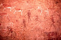 Rock art, ´White Lady´, Zimbabwe