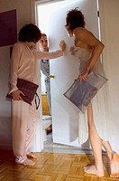 Women at man's bedroom door (thumbnail)