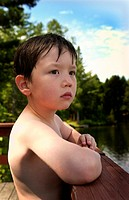 FV6311, Brian Summers, Boy Leaning on Railing Outdoors