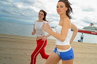 Runnig on the beach