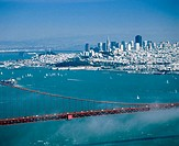 San Francisco and Golden Gate bridge. California. USA