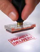 Priority Delivery Rubber Stamp