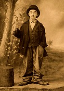 Child In Charlie Chaplin Costume