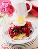 Fresh Berries with Shortcake Stars