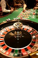 Spinning Roulette Wheel and Bets