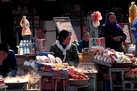 Sunday market in Loyang, China
