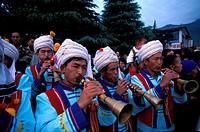 Bai musicians, Dali, China