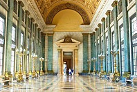 Hall of Lost Steps (Salon de los Pasos Perdidos) in the Capitolio building in Havana. Cuba