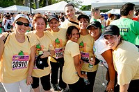 Miami Corporate Run event. Biscayne Boulevard, Bayfront Park, Miami. Florida, USA