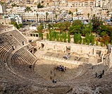 A Roman theatre in Amman. A historical site much visited by tourist.