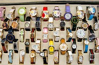 Patterns of watches on a table