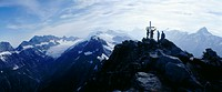 10652264, alpine, Alps, mountains, mountaineering, sport, Blüemlisalp, spare time, summit, peak, summit cross, group, squat ho