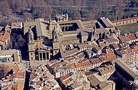 Aerial view of Pamplona's Cathedral. Navarra. Spain