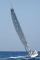 Sailboat at race