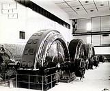 Giant turbines in power plant