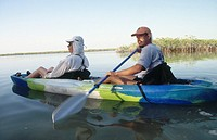 Kayaking. Sian Ka´an Biosphere Reserve. Quintana Roo. Mexico.