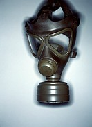 Gas mask or respirator. Gas masks are used to avoid breathing air contaminated by smoke, or chemical or biological agents, such as might be used durin...
