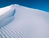 White gypsum sand dunes. White Sands National Monument. New Mexico, USA