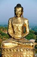 Buddhist pagoda on Sagaing Hills. Sagaing. Mandalay. Myanmar (Burma).