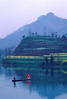 Boating in a lake, China