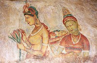 ´The young ladies of Sirigiya´, frescoes in The Lion Rock. Sirigiya. Sri Lanka