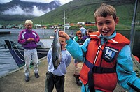 denmark, faroe islands, vidoy island, hvannasund