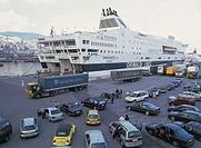 italy, genova, ferry boarding