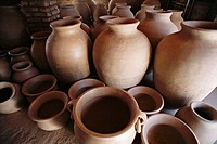 Clay jars before heating. Calchaquies valleys. Argentina