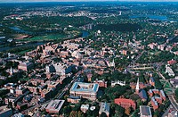 Aerial View of Harvard University Campus, Harvard, Massachussetts, USA